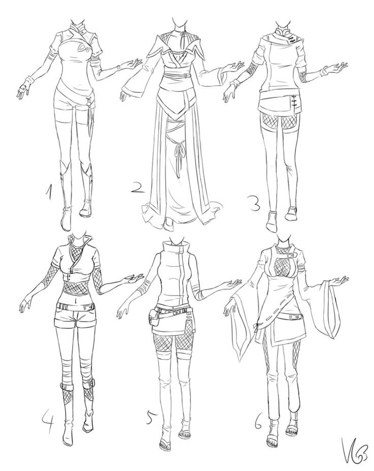 How To Draw Anime Girl Dress Best 25+ Manga clothes...