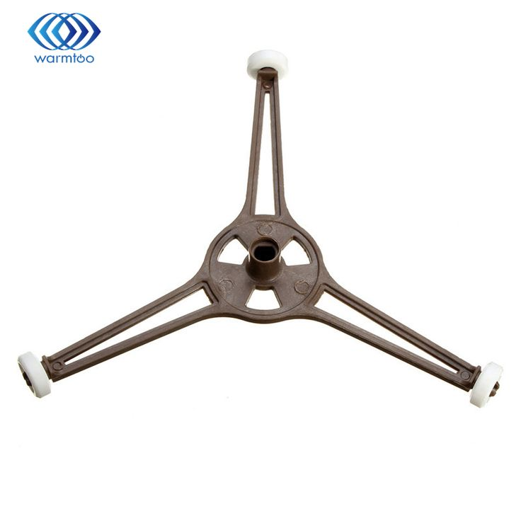 MEW 1pcs Microwave Oven Brown Plastic Triangle Shaped Tray Support Microwave Parts for 24.5cm Flat Glass Plate