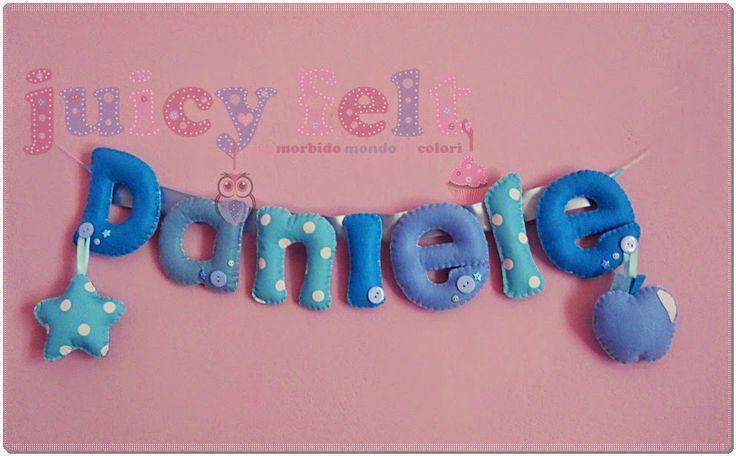 Juicy felt: Il banner di Daniele #felt #name #banner