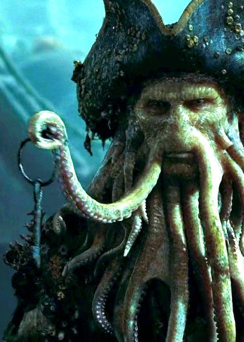 "Captain Jack Sparrow: ""I already have the key!"" Davy Jones: ""No you don't"" Captain Jack Sparrow: ""Oh that key"""