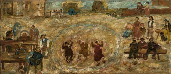 Zabawa na wsi - Tadeusz Makowski
