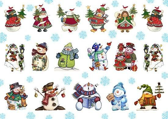 Paper Decoupage Paper A4 NY-091 Christmas ART paper