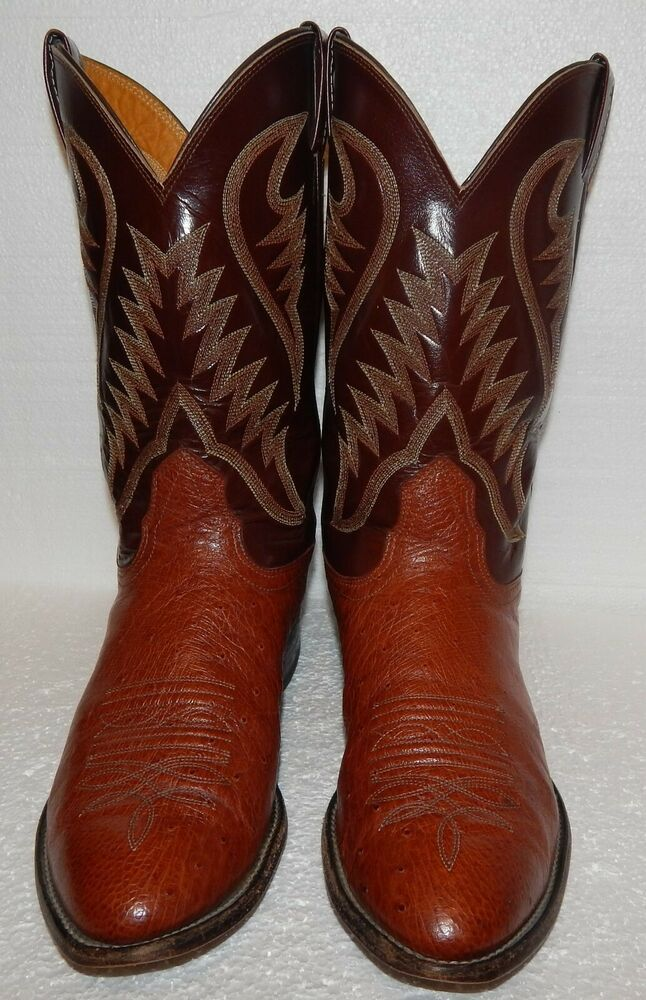 1b8f14b67ee AWESOME MENS NOCONA OSTRICH SKIN & LEATHER COWBOY BOOTS 10.5D 10.5 D ...
