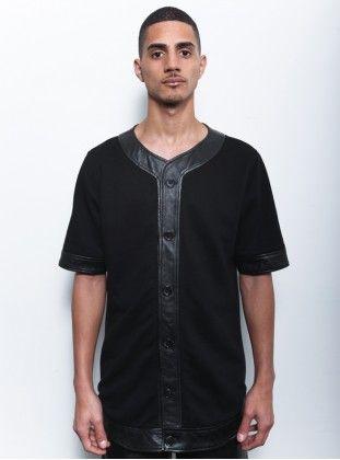 Clothsurgeon Jersey/Leather Baseball Style Jersey