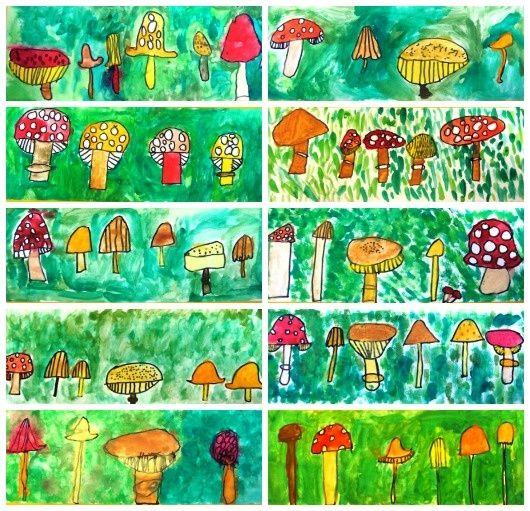 Värikkäät sienet, 1.lk
