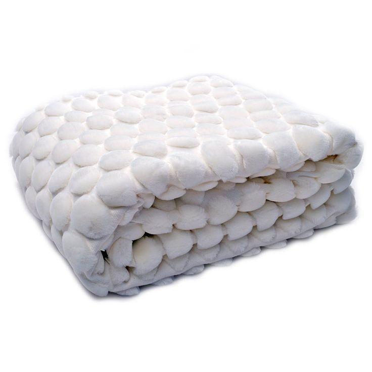 Inreda.com - Pläd White Egg Shell 130x170 cm, Ceannis