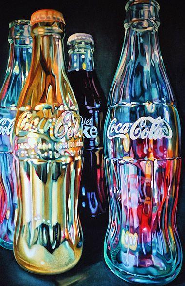 A pencil drawing of Coca Cola bottles #pencil #drawing #art