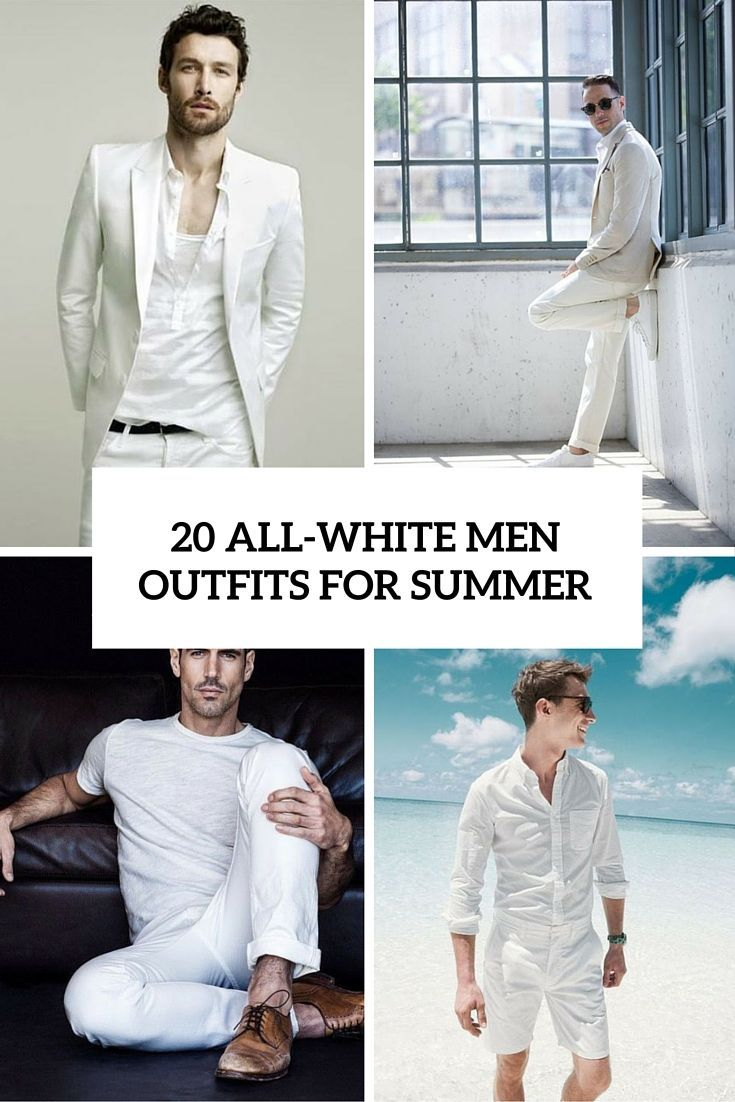 20 all white men outfits for summer
