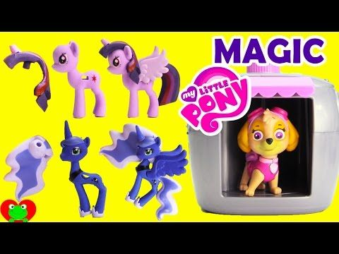 My Little Pony Puzzle Erasers Series 2 With Paw Patrol Magical Pup House - YouTube