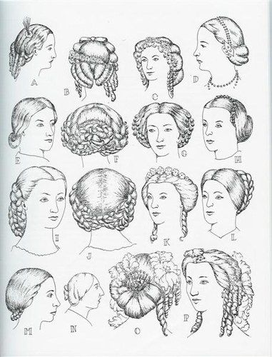 Modes de coiffure Victoria et Elizabeth civil war era hair fashion