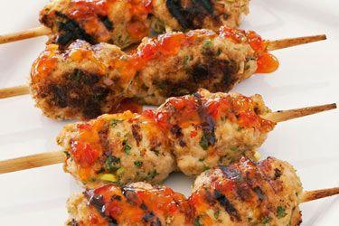Chicken mince skewers