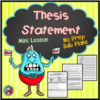 practice creating thesis statements Thesis statements a thesis is just a fancy way of making a statement of what you believe and why you believe it when you write an essay, you must clearly state your thesis at the end of the introduction paragraph.