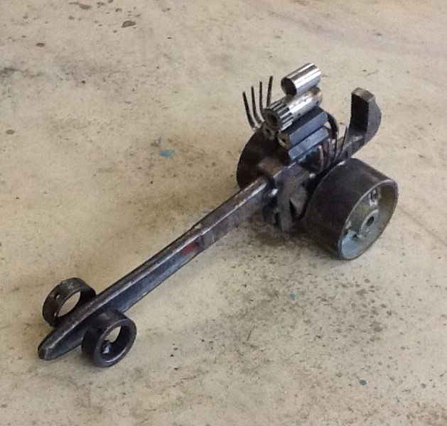 Dragster made from old pipe wrench metal art pinterest for What are old plumbing pipes made of