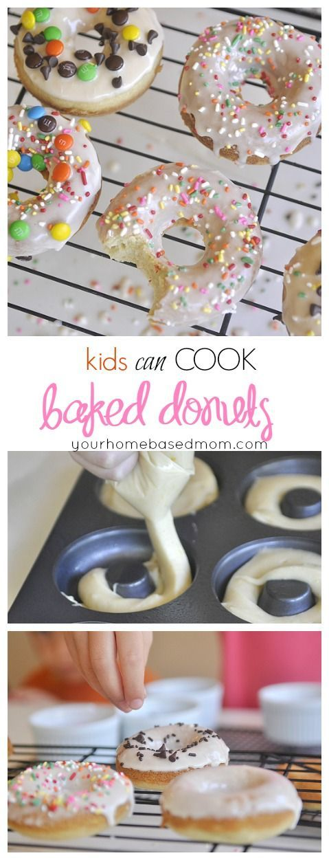 Kids Can Cook Baked Donuts @yourhomebasedmom.com