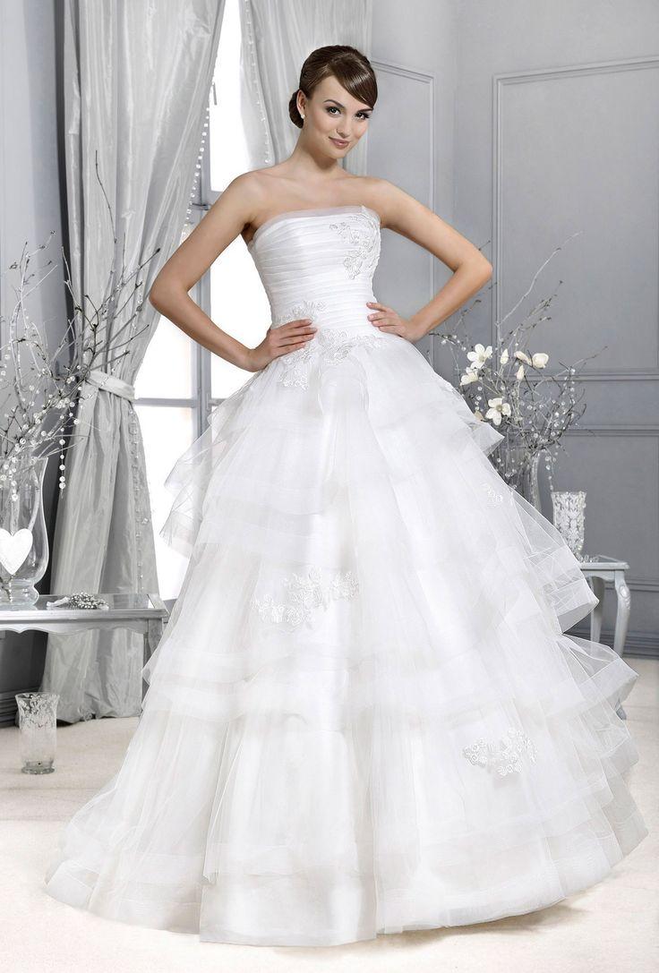 Crystal Collection - Agnes - koronkowe suknie ślubne, suknie ślubne dla puszystych: Poznań, Katowice, Trójmiasto
