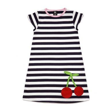 cherry applique dress - De Kleine Koning - waar kinderen koning(in) zijn! - Nosh Organics