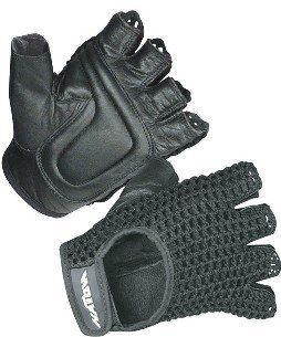 Hatch Mesh Back Wheelchair Gloves - Black