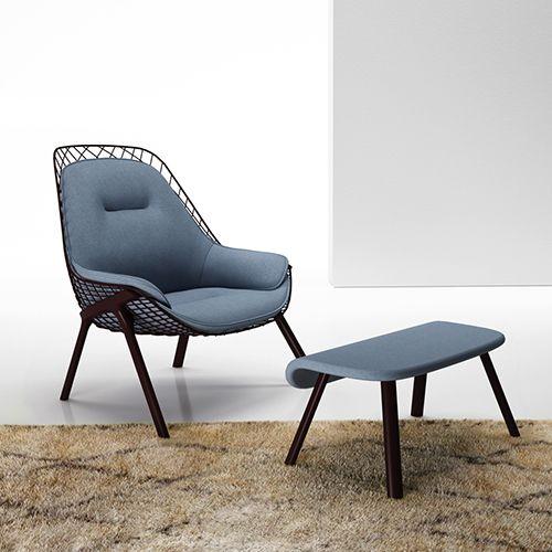 Gran Kobi er en lækker lænestol til loungeområdet. Karakteristisk design til loungeområdet. Design stolen som du ønsker. Se mere her. #lænestol #loungeindretning #indretning #afslapning #kontorindretning #kontormøbler