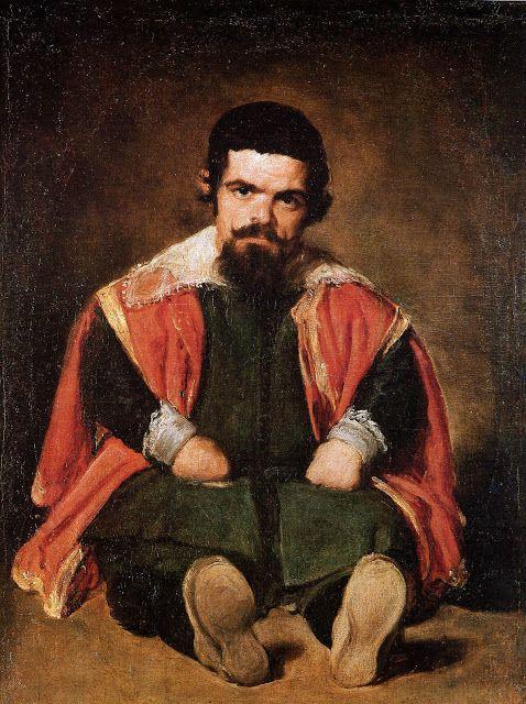 Ο νάνος Sebastian de Morra καθισμένος στο πάτωμα (1645)