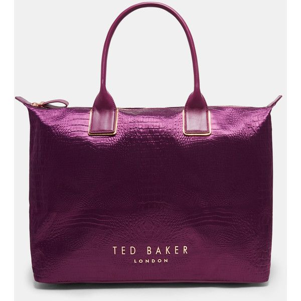 Ted Baker Exotic large tote bag (1.085 DKK) ❤ liked on Polyvore featuring bags, handbags, tote bags, purple, tote hand bags, ted baker purse, ted baker tote bag, handbag tote and purple tote bags
