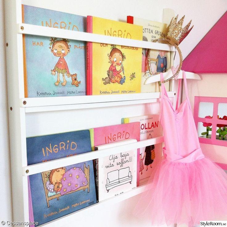 barnrum,flickrum,barnböcker,barnrumsförvaring,bilderbokshylla