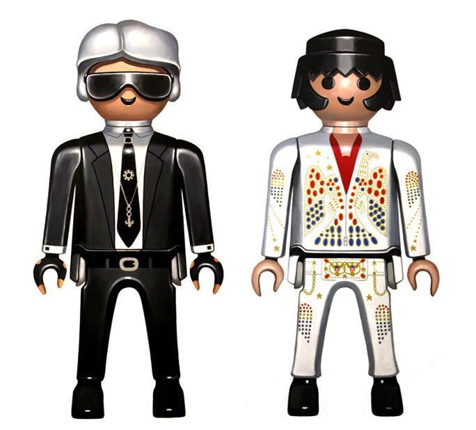 Karl / Elvis. 120 x 60 cm.