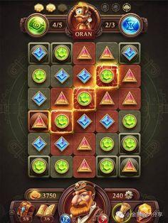 PUZZLE质感游戏ui界面设计