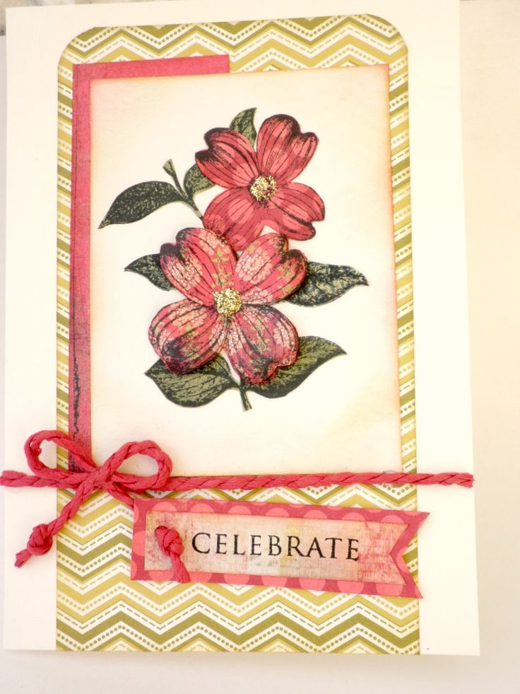 handmade card celebrate