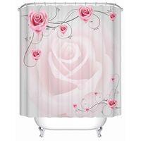 Überlegene Romantische Graceful Rosa Rose 3D Duschvorhang Stoff Duschvorhang 3D 3 Größe Verfügbar
