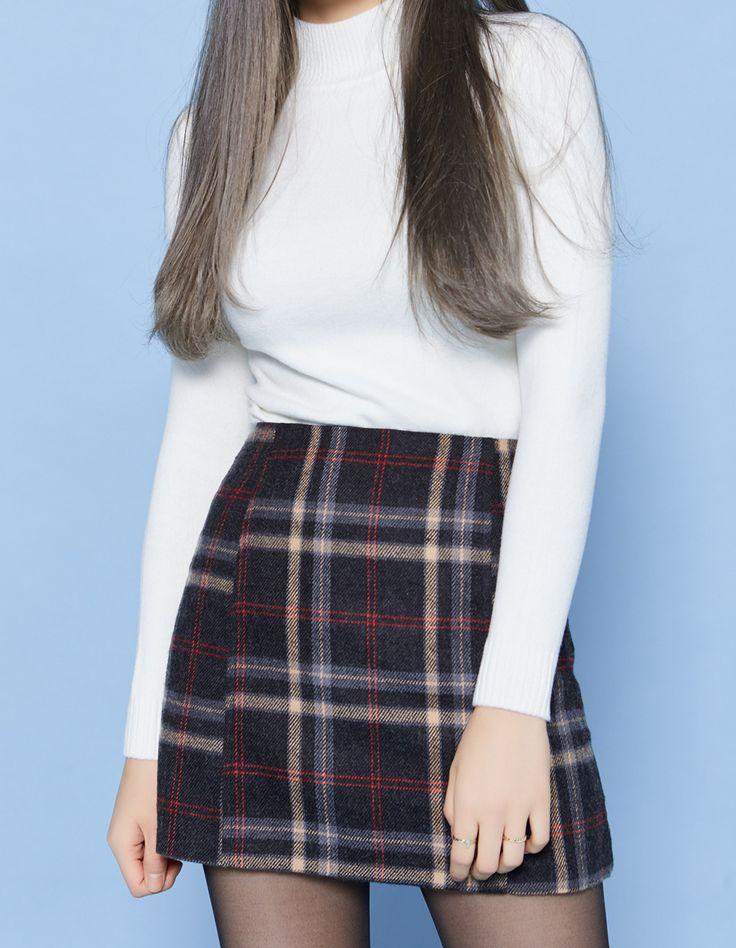 Dove Check Skirt
