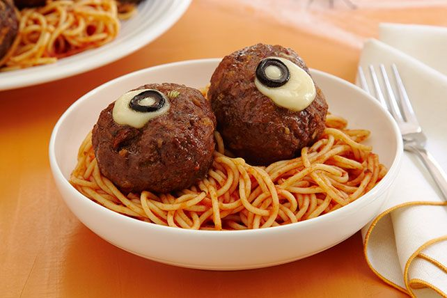 Oozing meatballs bursting with cheese are the perfect complement to spaghetti.