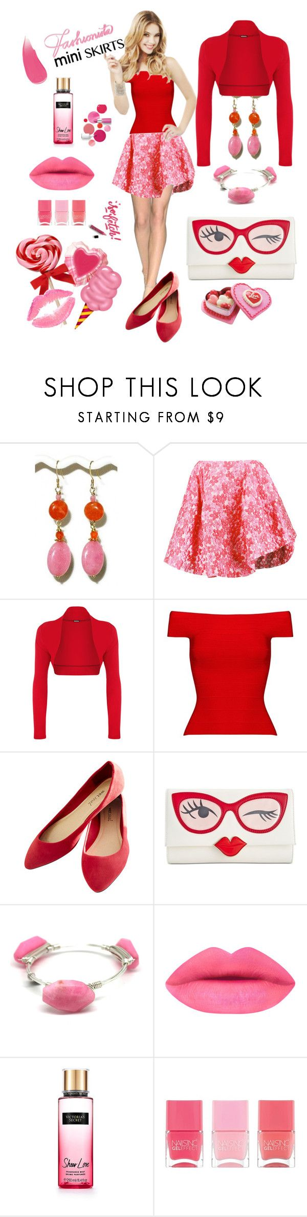 """""""#miniskirt"""" by manueladimauro ❤ liked on Polyvore featuring Simone Rocha, WearAll, Posh Girl, Wet Seal, Kate Spade, Black & Sigi, Victoria's Secret, Nails Inc., Burberry and Clinique"""