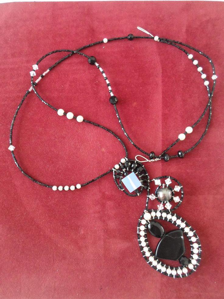 Handmade Ebony stone Necklace