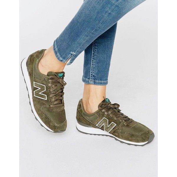 New Balance 996 Khaki Suede Trainers ($105) ❤ liked on Polyvore featuring shoes, sneakers, green, new balance, new balance footwear, green sneakers, khaki sneakers and khaki green shoes