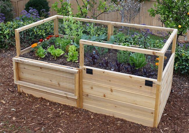 Garden In A Box Kit 6 3 Cedar Raised Garden Beds