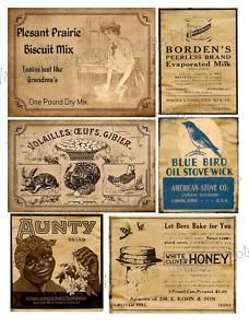 Free Primitive Pantry Labels | Primitive Farmhouse Pantry Jar Labels Set Sheet 95 | eBay