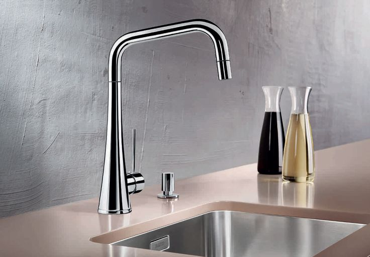 #Elegant contours and curves on this stylish, modern tap. #Contemporary #Kitchen  Blancojulos-S by Blanco, Hafele