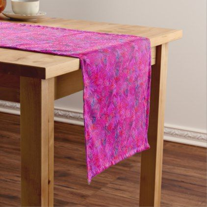 pink tropical short table runner - birthday gifts party celebration custom gift ideas diy