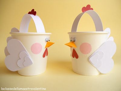 Cute little chick cup basket. Translation on the side bar