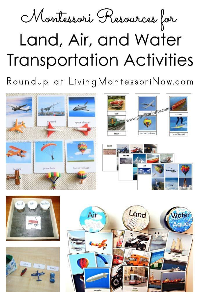 Montessori Resources For Land Air And Water Transportation