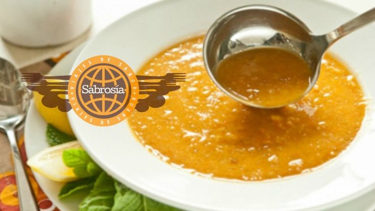 Sopa turca de lentejas