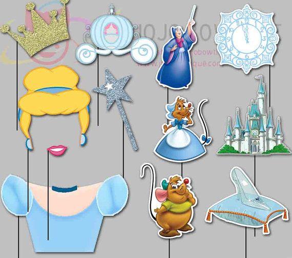 CINDERELLA Party Photo Booth Props Princess by IraJoJoBowtique