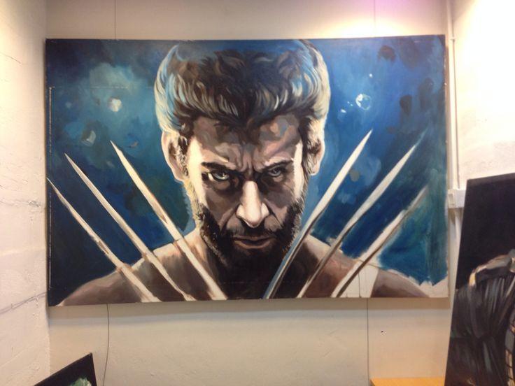 Wolverine. Painted by Hong Kong artist Law Sir #marvel #xmen #hughjackman