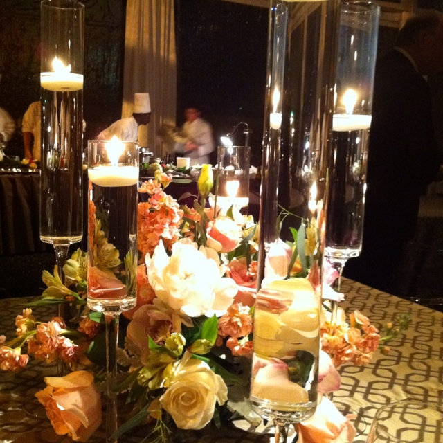 Wedding Reception Centerpieces With Floating Candles Candle ...