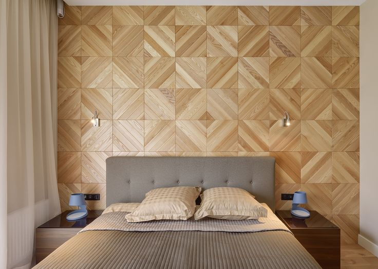 3D RACK panels in the bedroom interior