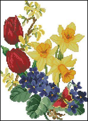 """Сачать схему вышивки """"Spring Flowers"""""""