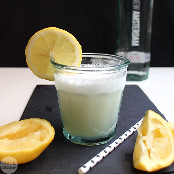 flip cocktail is made with egg whites, and this vegan lemon gin flip ...