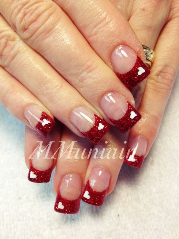 40 Lovely Valentines Day Nail Art Designs 2019 Nail Designs Valentines Valentines Nails Holiday Nails