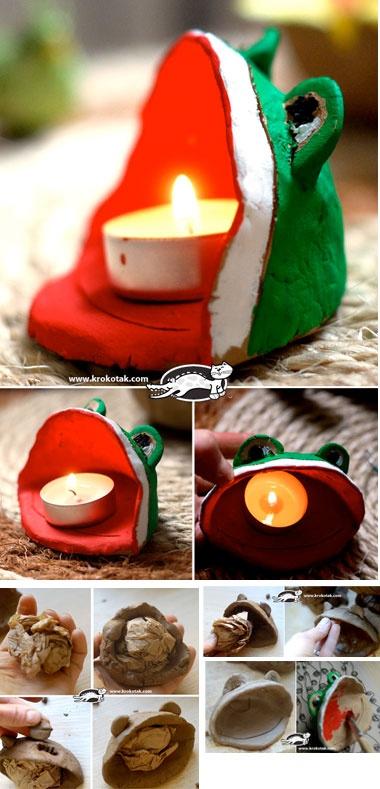 Frog candleholder