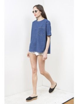 clothes for casual days: easy denim t-shirt by 69.